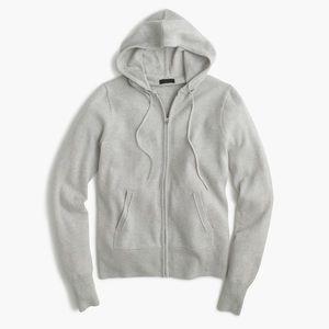 J. Crew • NWOT Italian Cashmere Zip Front Hoodie